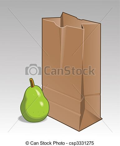 Pear clipart bag With paper bag paper green