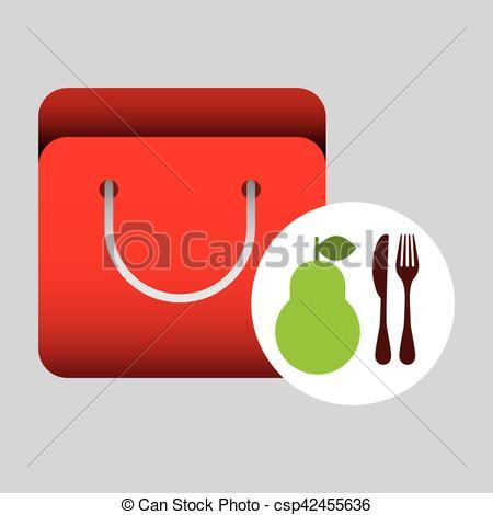 Pear clipart bag Grocery  Download bag Bag