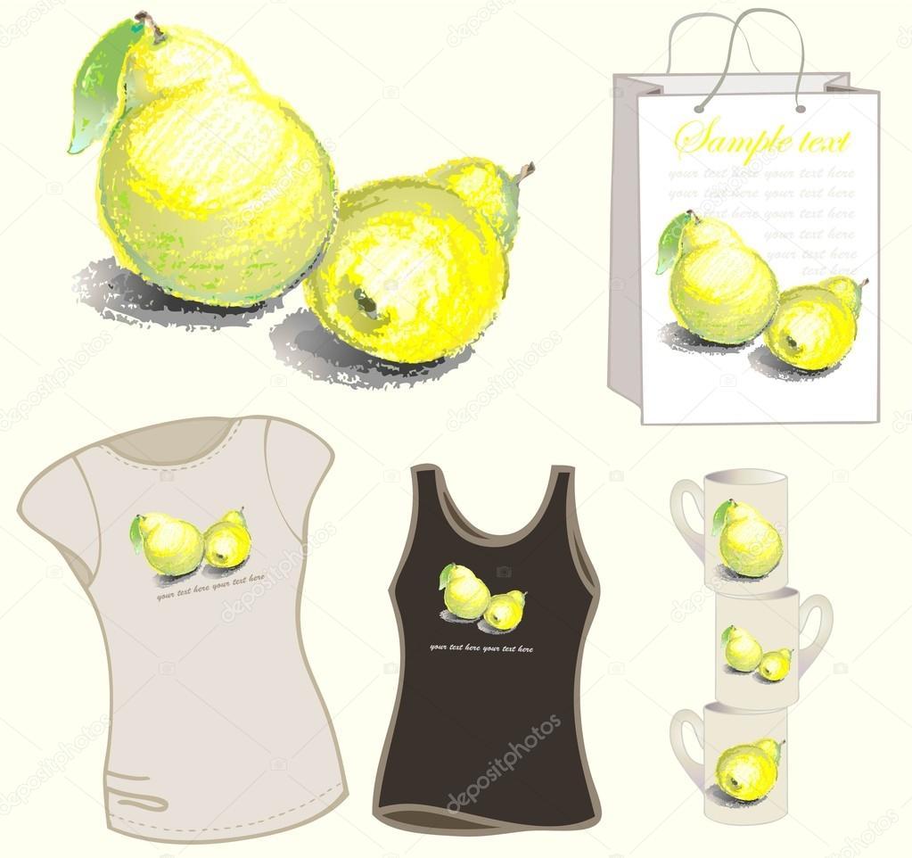 Pear clipart bag T bag pear pear Illustration