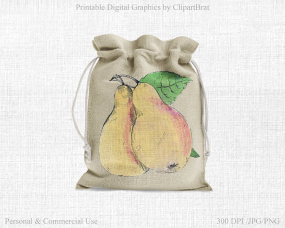 Pear clipart bag Is  a Commercial PEARS