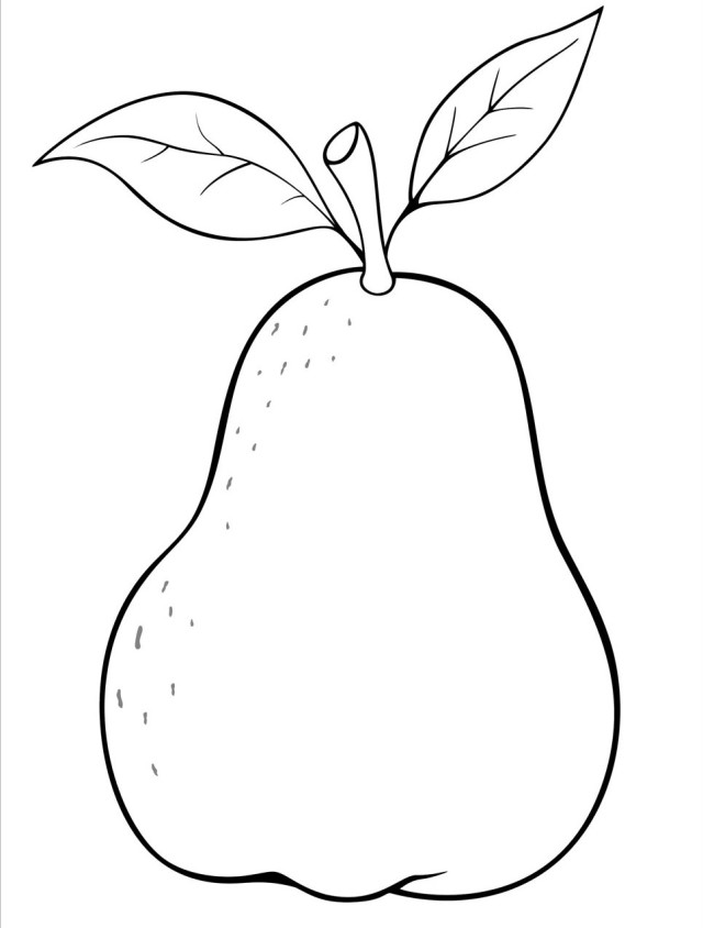 Pear clipart coloring Coloring Coloring for pages Kids