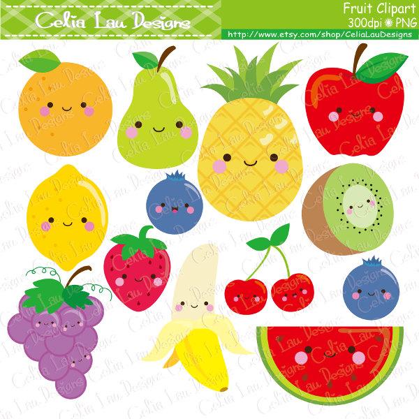 Pear clipart cute Fruit clipart Food Etsy Pear