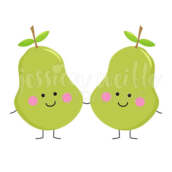 Pear clipart cute Perfect  Characters Fruit art