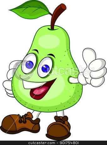 Pear clipart cute cartoon Cartoon character stock character Pear