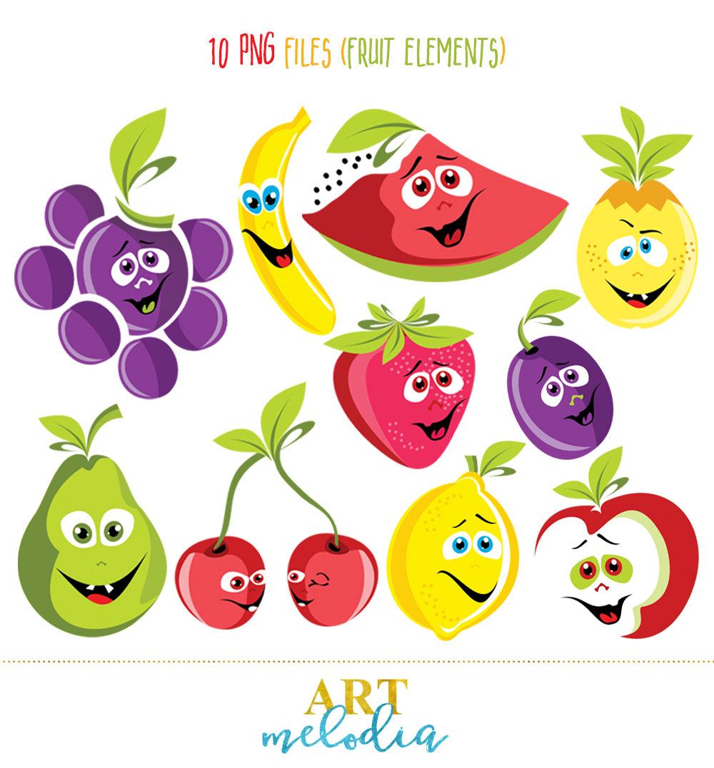 Pear clipart cute cartoon Clipart Faces Fruit is