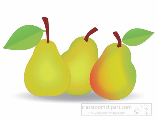 Pear clipart different fruit 3 art art clip clipart