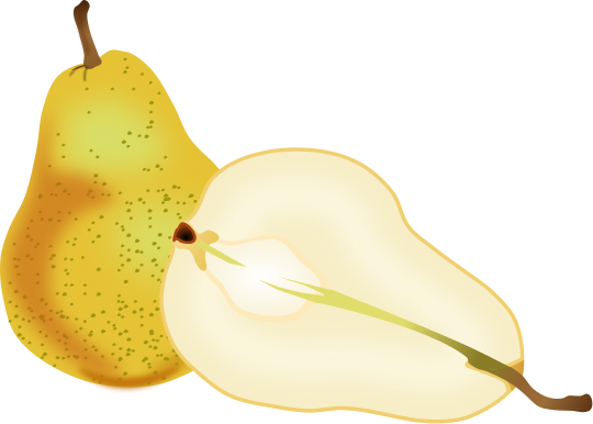Pear clipart different fruit Art Fruit Free Clipart pages