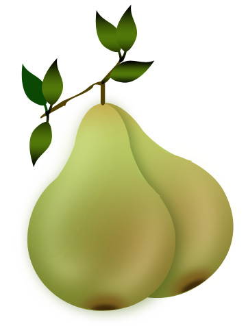Pear clipart lukisan Subtle we created fruit drop