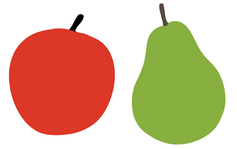 Pear clipart pair Nursery Pairs and Apple Apples