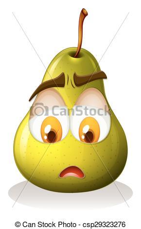 Pear clipart sad Vectors Pear face csp29323276
