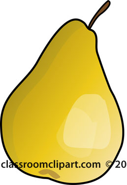 Pear clipart single fruit Yellow Clipart yellow : Fruits