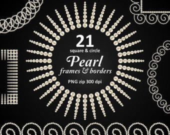 Pearl clipart australian 21 borders art circle of