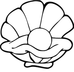 Pearl clipart black and white  on Clip Art Free