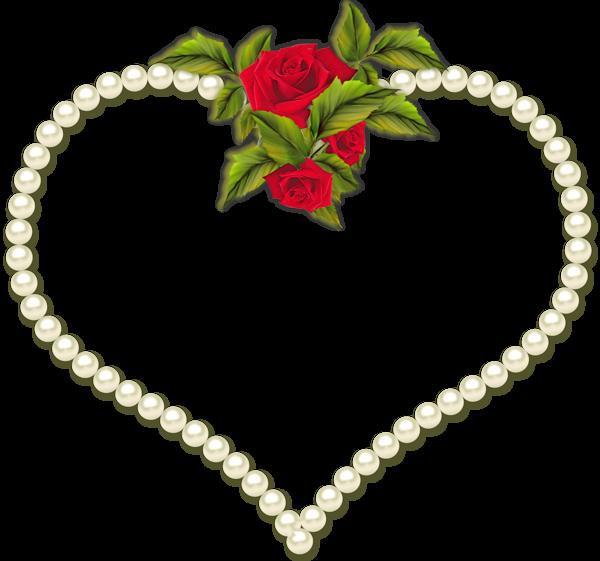 Pearl clipart heart shaped Rosas com Frames  Pearls