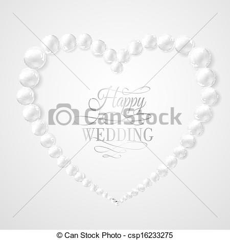 Pearl clipart heart shaped Vectors in csp16233275 Illustration of