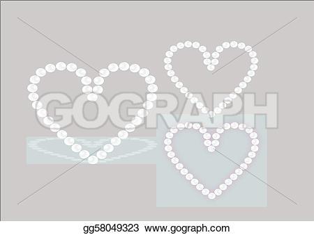 Pearl clipart heart shaped Shape Vector heart Vector Illustration