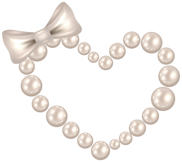 Pearl clipart heart shaped Image Bow Art Pearl Heart