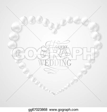 Pearl clipart heart shaped Background Drawing white vector illustration