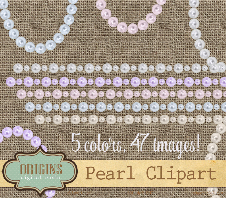 Pearl clipart pink pearl A pearl blue pink white