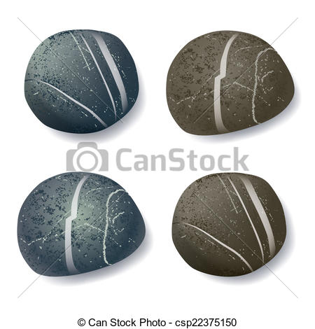 Pebble clipart Striped  pebble Clipart realistic