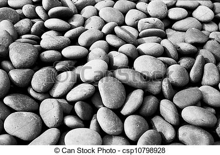 Pebbles clipart black and white  In Black Stones Stones