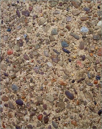 Pebble clipart colorful  Clip concrete mixed pebbles