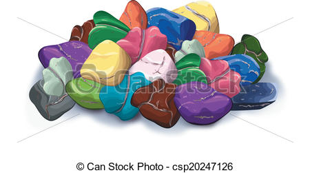 Pebbles clipart mineral rock #1