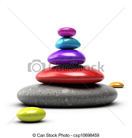 Pebble clipart colorful Over white  colors red