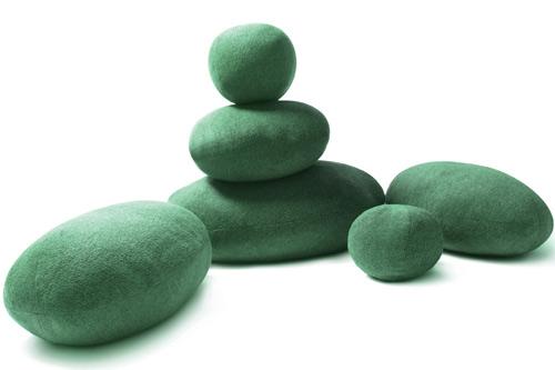 Pebble clipart hard soft object Living Living Green Pillows Pillows