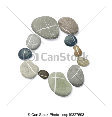 Pebble clipart one Layer for circle striped Vector