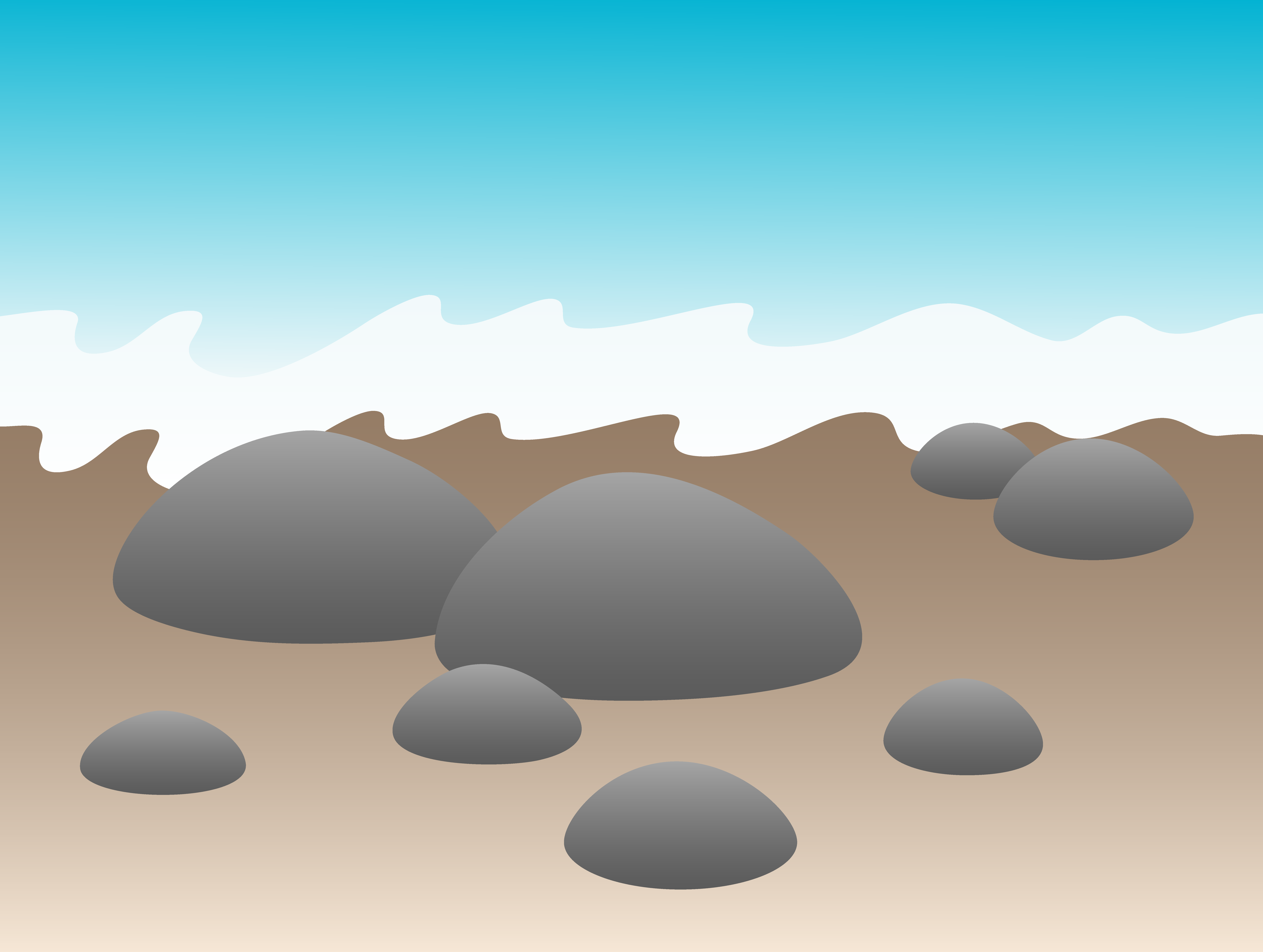 Pebbles clipart smooth stone #7