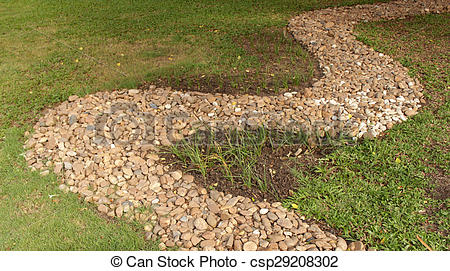 Pebbles clipart stone pathway On Photography green  Stone