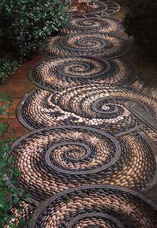 Pebble clipart stone pathway Pathway Pebble Art this Beauty