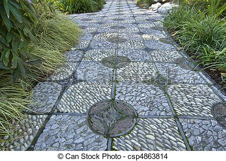 Pebble clipart stone pathway Path Stone Stone Photo Stock