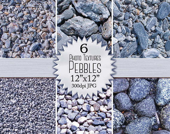 Pebble clipart stone rock Photographic High Resolution Blue Stones