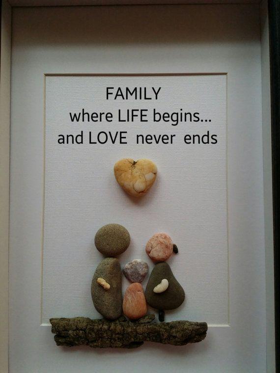 Pebble clipart stone rock Framed art rock family art