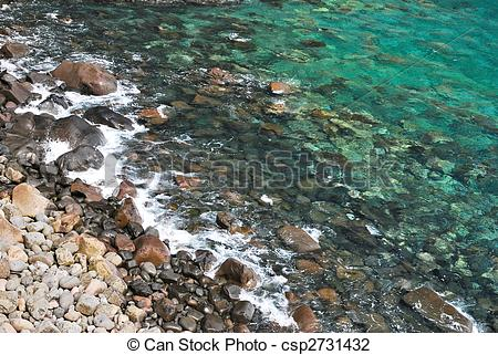 Pebbles clipart shore Clean  shore and stones
