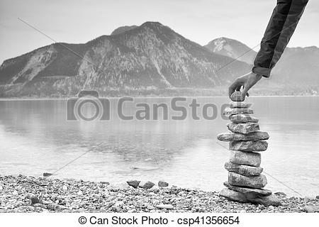 Pebbles clipart shore Pyramide  built pyramid Man