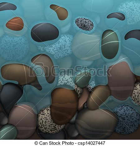 Pebbles clipart water EPS and stones pebbles Sea