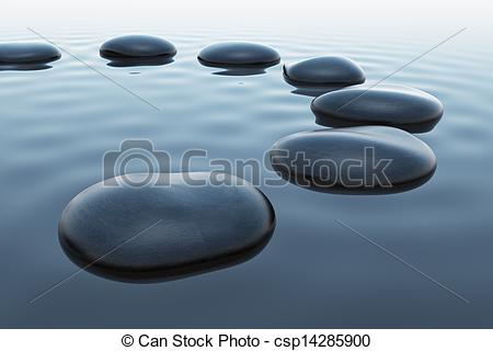 Pebbles clipart water Of pebbles Stock slightly water