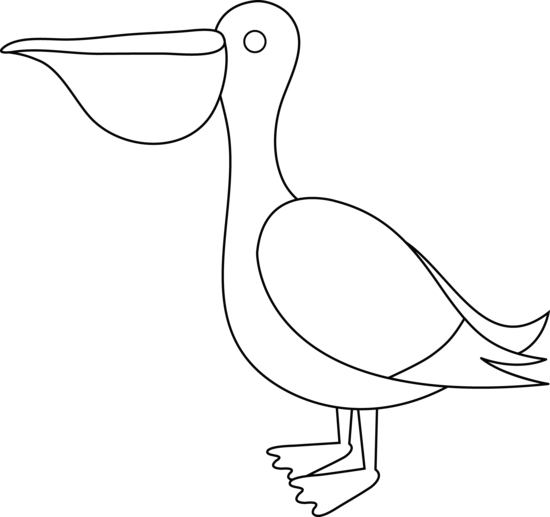 Beak clipart pelican Art Pelican Free Free Colorable