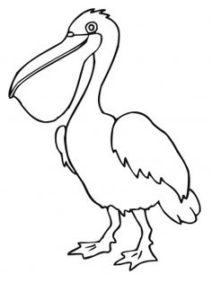 Pelican clipart black and white Pelican Bird Pelican Pinterest Silhouette