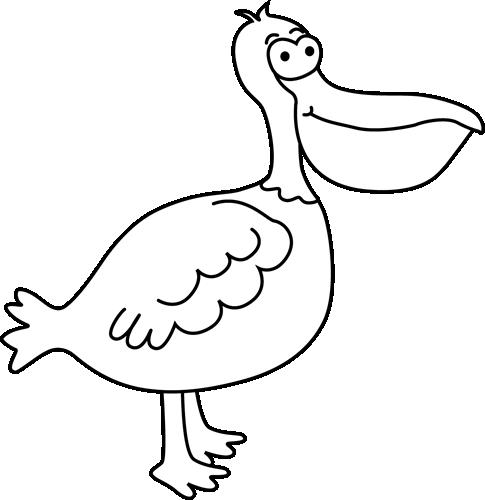Pelican clipart black and white Black and White Clip Pelican