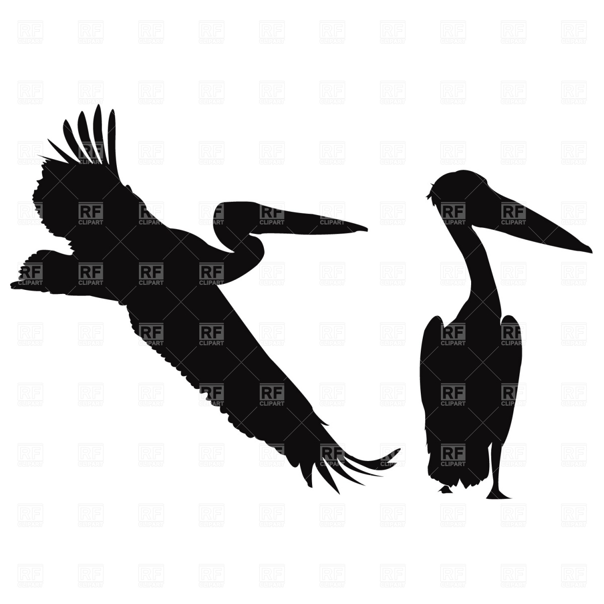 Pelican clipart silhouette Free silhouette Clipart Images Info