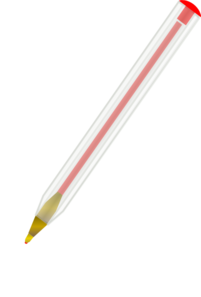 Pen clipart ballpoint pen Clker at Pen Red vector
