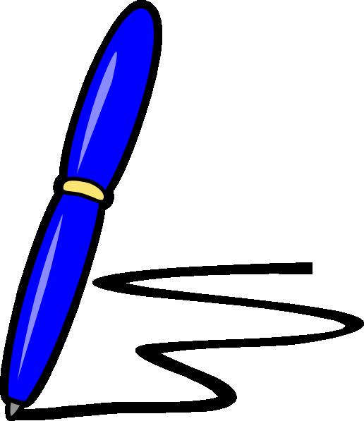 Pen clipart blue pen Royalty Art at Blue Clip