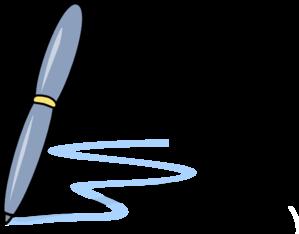 Pen clipart blue pen Vector With Blue Clip