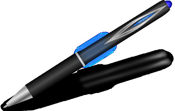 Pen clipart blue pen Art Pen Clip Silver Blue