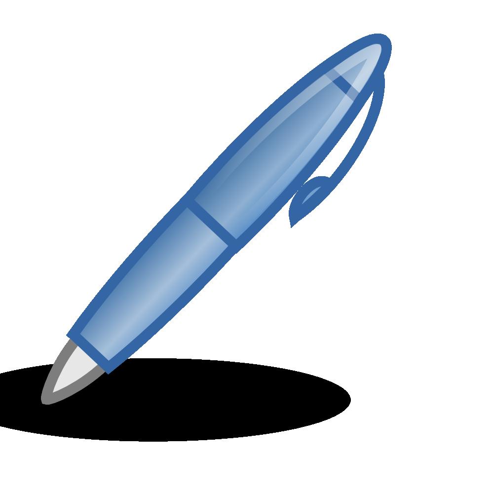 Pen clipart blue pen — Pens Clipart White Blue