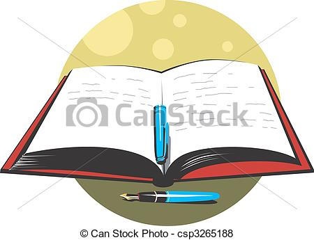 Bobook clipart pen Illustration and Pictures Stock book